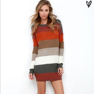 Jack multicolor sweater dress